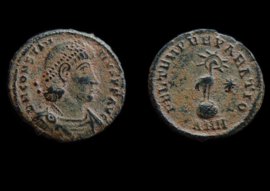 Constantius ii - Antioche RIC. 129 (FTR - phénix) Consta28