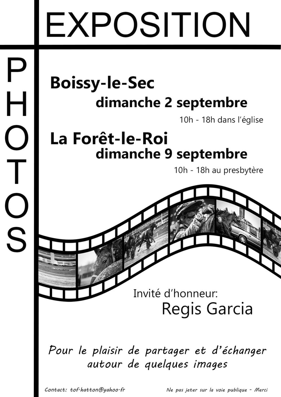 Expo à Boissy le sec le 2 septembre et à La foret le roi le 9 semtembre 2018 Affich10