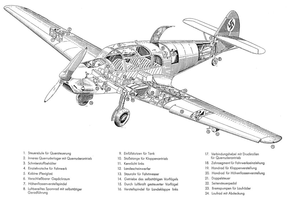 [Heller] Messerschmitt Bf108 Taifun bulgare 12_bf110