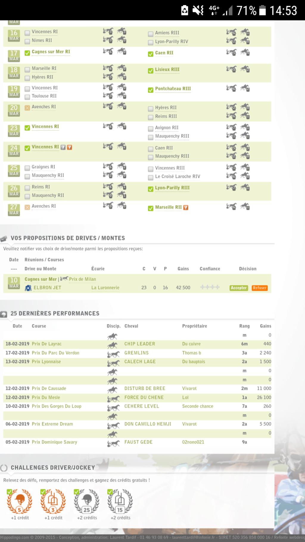 Bug perfs Driver/Jockey Screen10