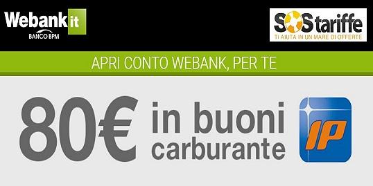 WEBANK & SOS TARIFFE regalano BUONO CARBURANTE IP € 80 [promozione valida fino al 31/07/2019] Cattur23