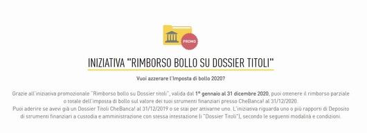 CHEBANCA! rimborsa il BOLLO SU DOSSIER TITOLI [promozione valida fino al 31/12/2020] Cattur32