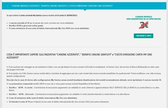 UNICREDIT regala ACCREDITO in C/C € 150 [promozione valida fino al 31/12/2020] Cattur38
