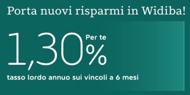 WIDIBA promo vincoli 1,30% a 6 mesi [promozione valida fino al 30/09/2020] Ff10
