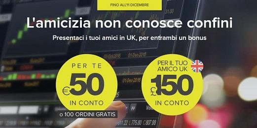 FINECO regala € 50 al presentatore e fino a £ 150 al presentato [promozione scaduta l'11/12/2018] Fineco10