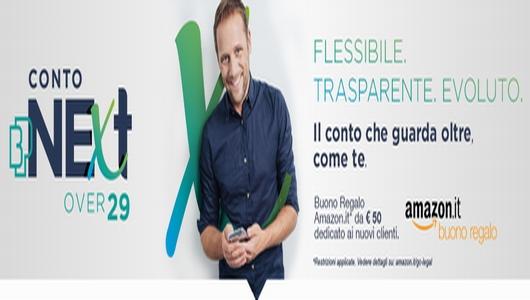 BANCA DEL PIEMONTE - Conto NExt (over 29) regala BUONO AMAZON € 50 [promozione valida fino al 23/12/2020] Sfaf10