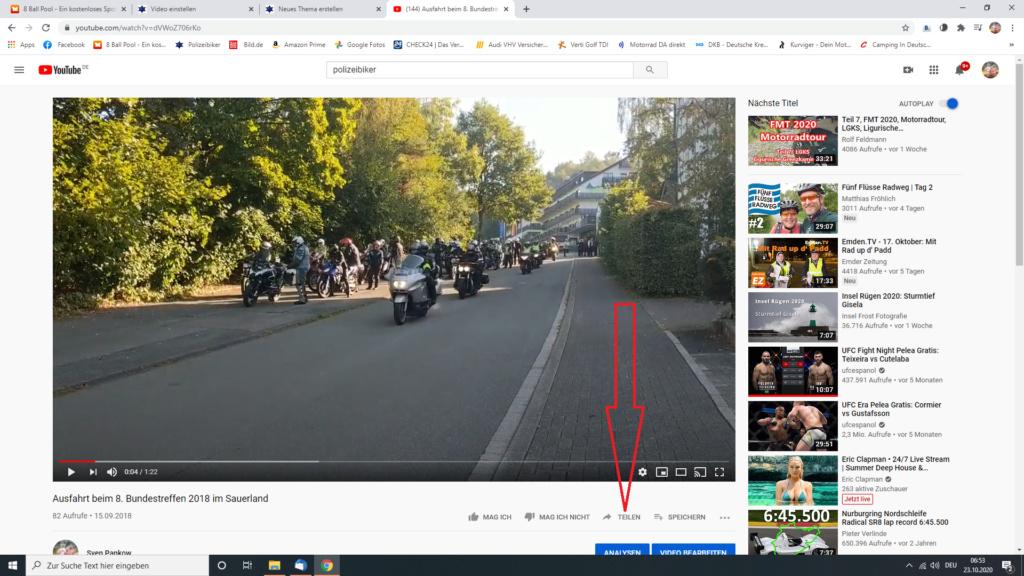 Ein Video in ein Thema/in einen Beitrag einbetten Screen21