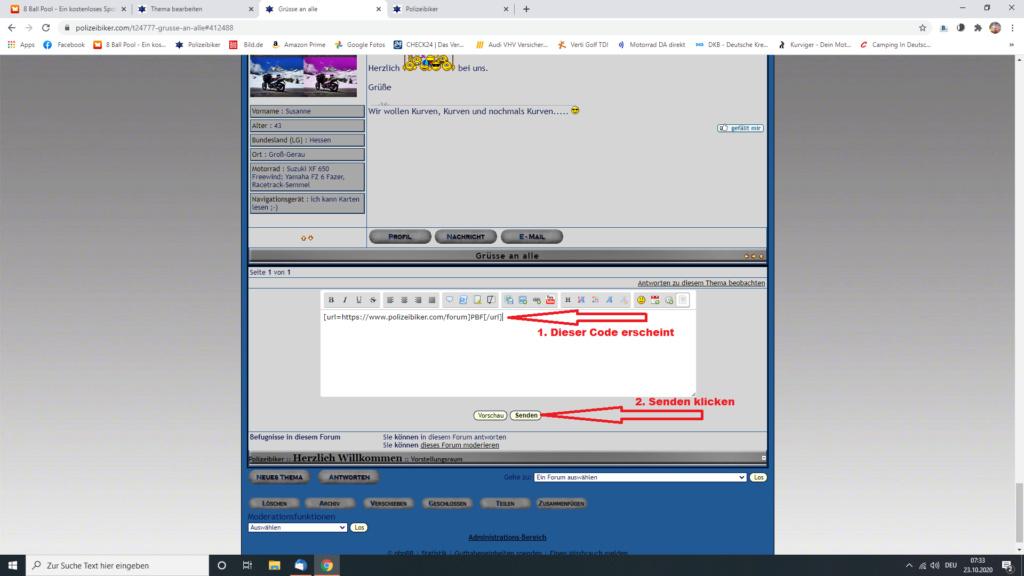 Kurzer Link Screen35