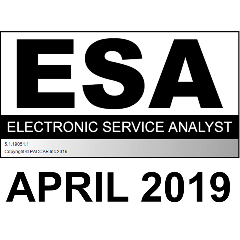 PACCAR ESA Electronic Service Analyst v5.1.19051.1 Latest April 2019 Version Esa20114