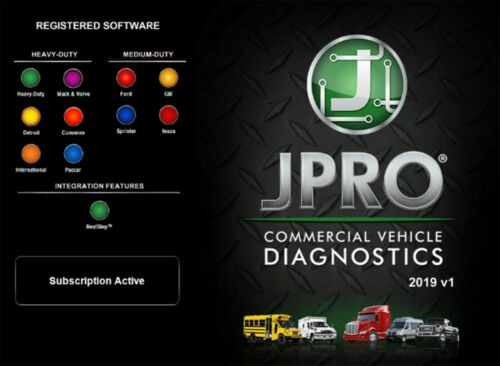 Noregon JPRO Commercial Fleet Diagnostics 2019 v1 + KM S-l50010