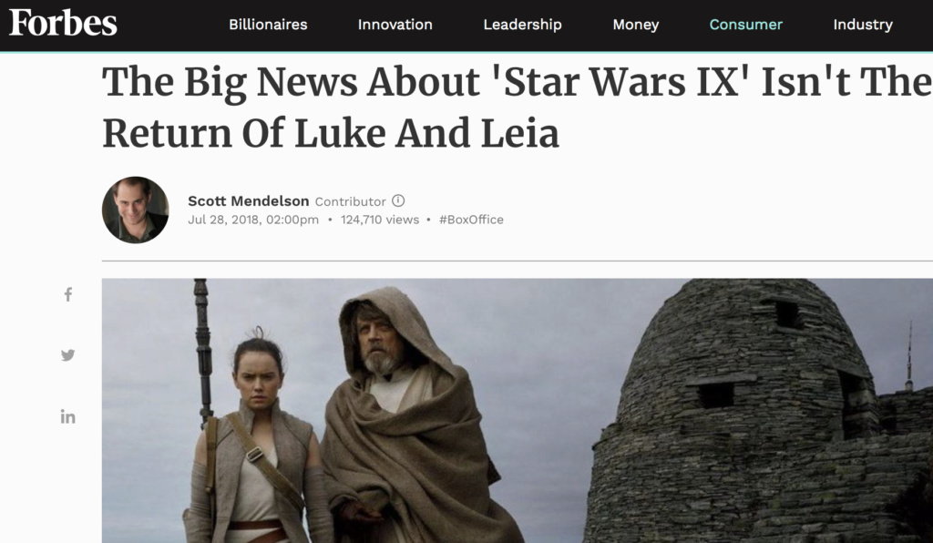 Discussion: Disney/LF Marketing Strategies for Episode IX Screen42