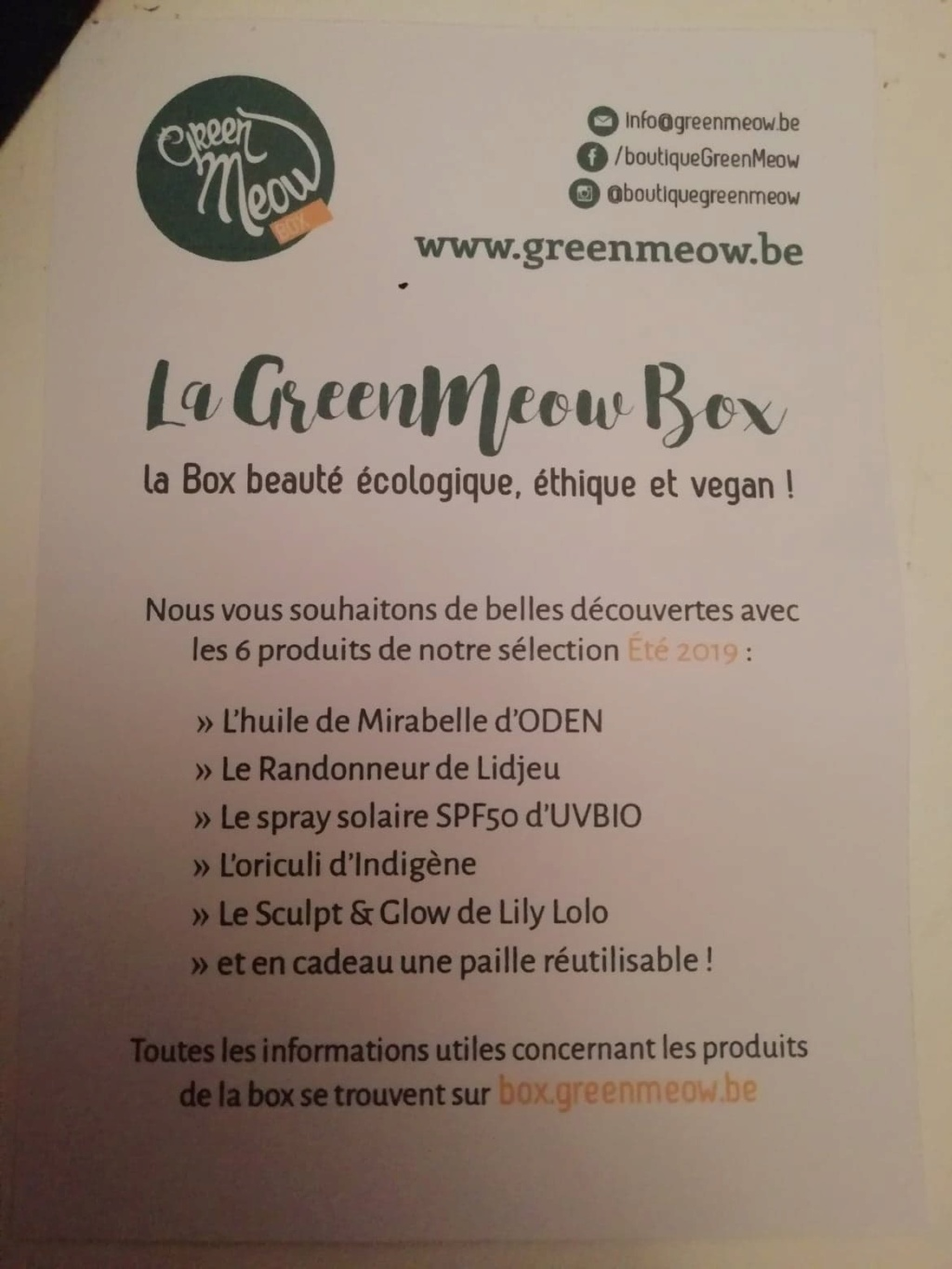 La Green Meow Box (bio / Belgique) 65496910