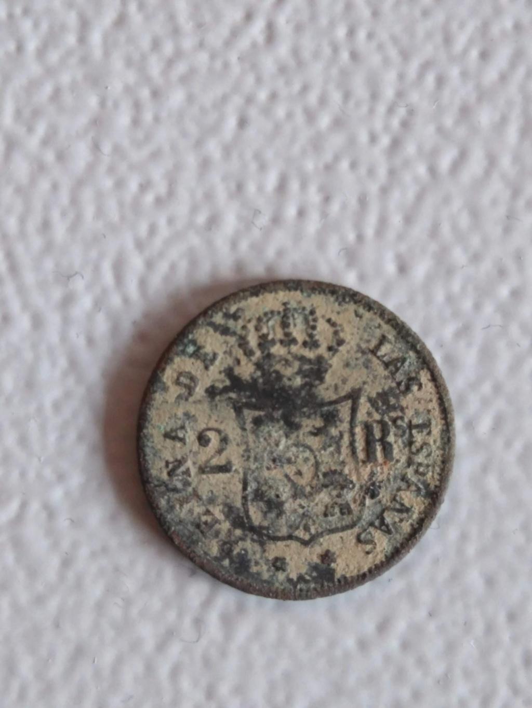 2 reales 1852. Isabel II. Cobre. Falsa de época 2_real11