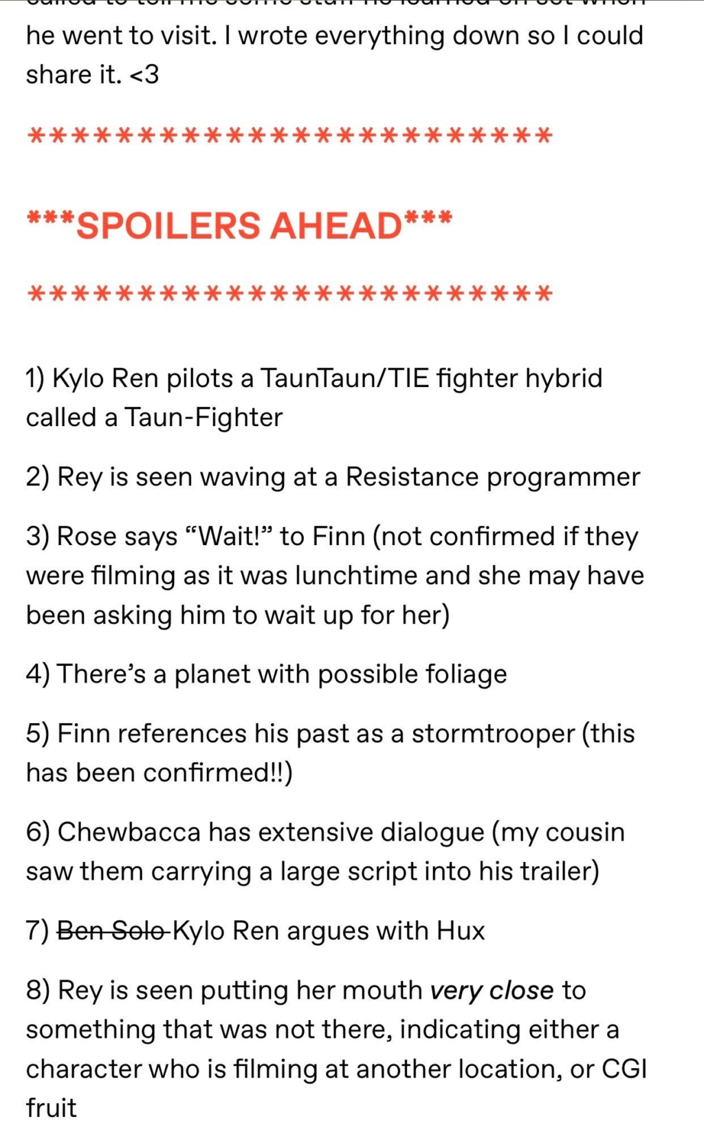 Episode IX: Spoilers and Rumors - Page 40 96faf810
