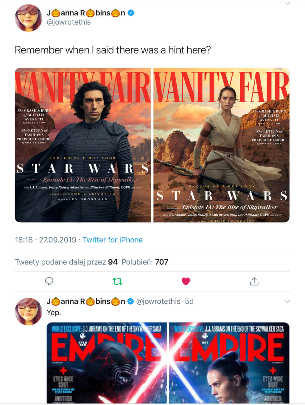 Vanity Fair Feature and Lebowitz Photos for The Rise of Skywalker - Page 6 B9050210