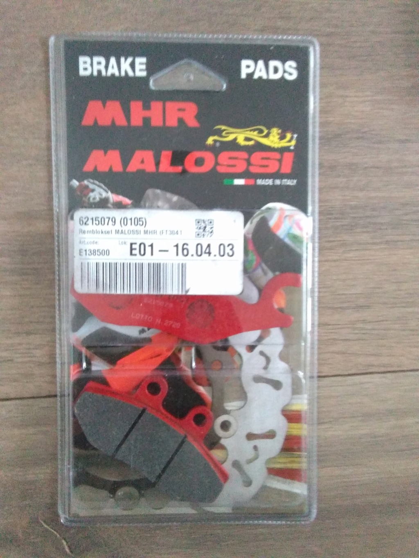 Vends plaquettes de frein neuves MALOSSI pour MP3 et Fuoco Img_2016