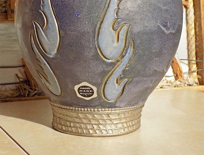 vase EB20-29, Bouffioulx, Société Nouvelle des Grès de Bouffioulx, Belgium Belg410