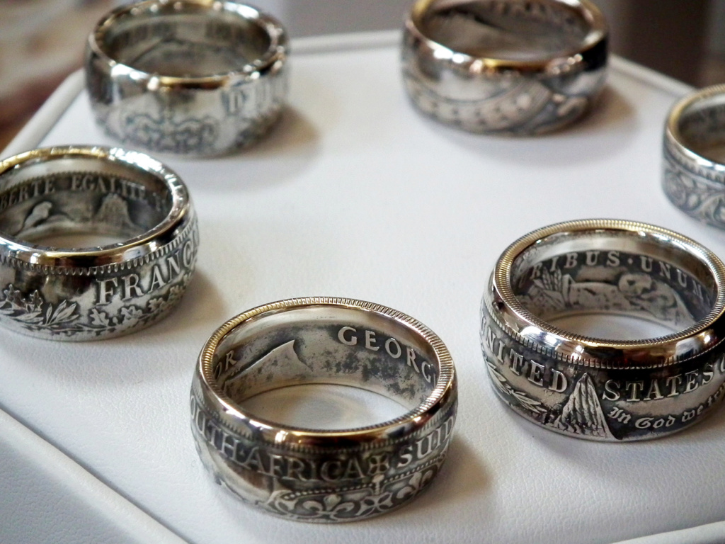 Bijoux à base de pièce de monnaie ( coin ring)  5411