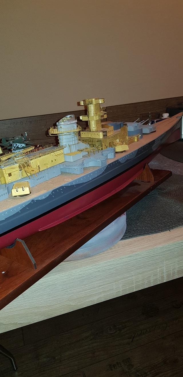 Die Scharnhorst von Hachette in 1/200 Scharn38
