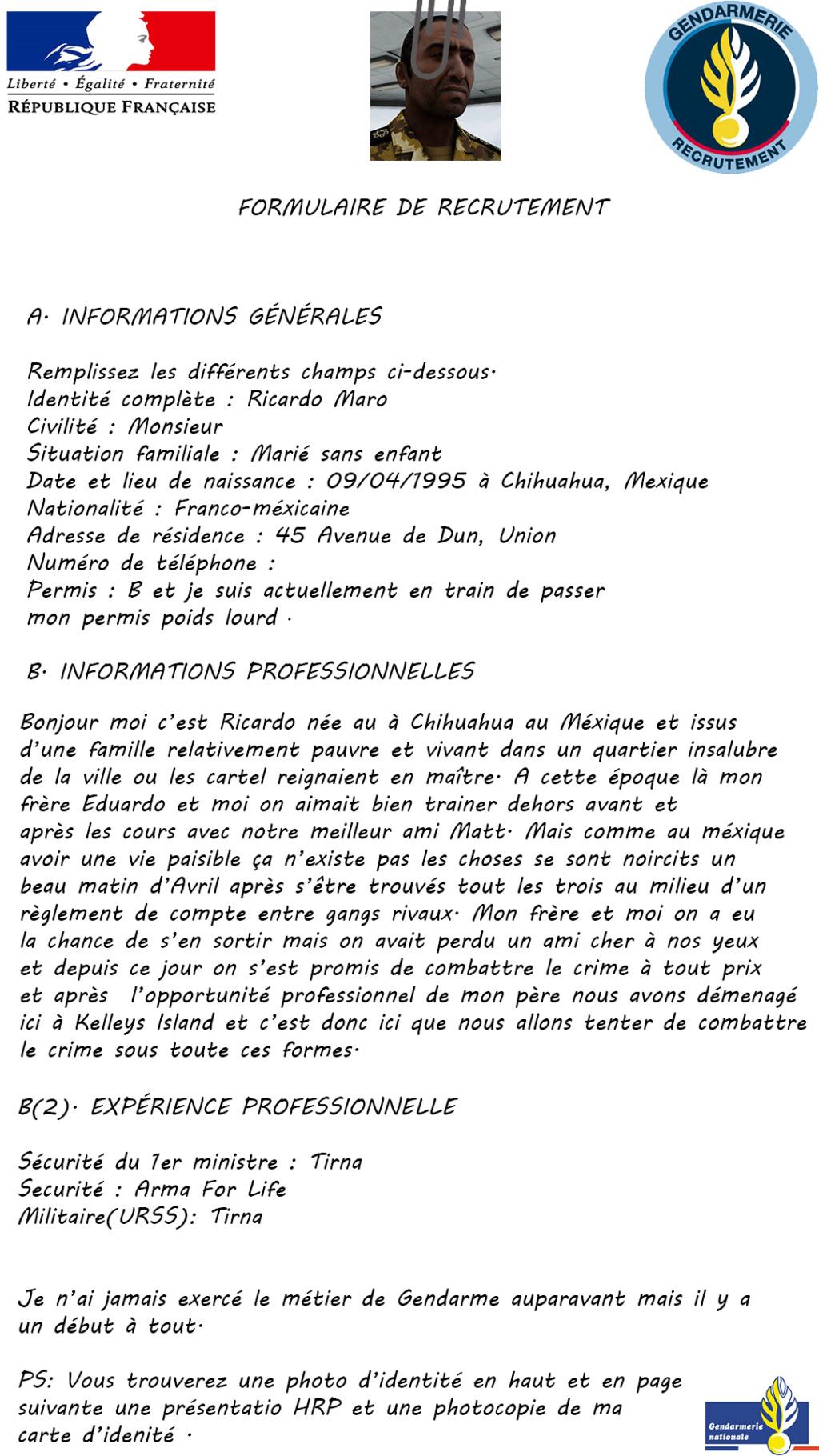 [Accepté]Candidature Gendarmerie : Ricardo Maro Candid10