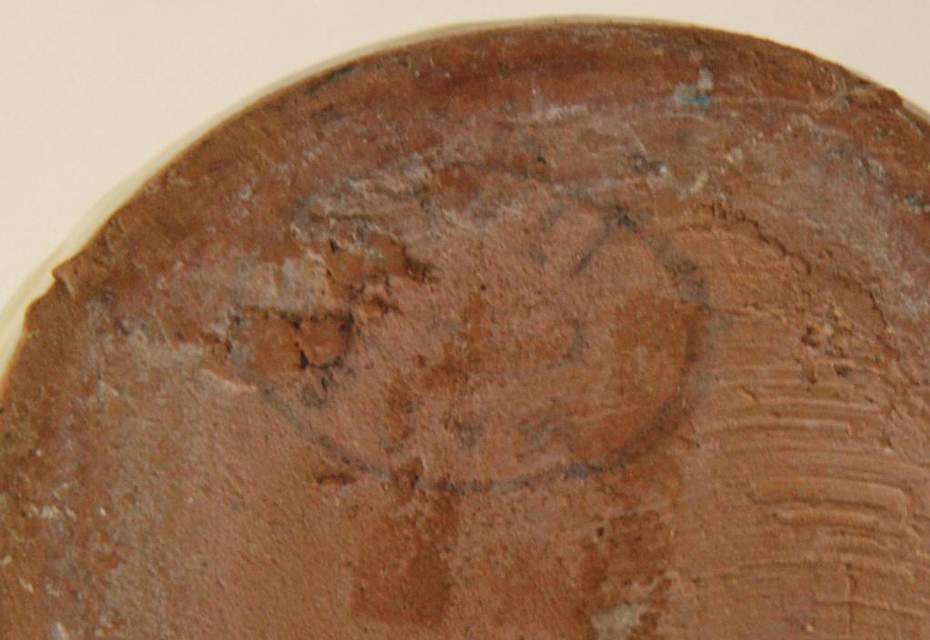 Pottery Mid Century Italian?  pitcher lava? carafe oval mark Buma_p10