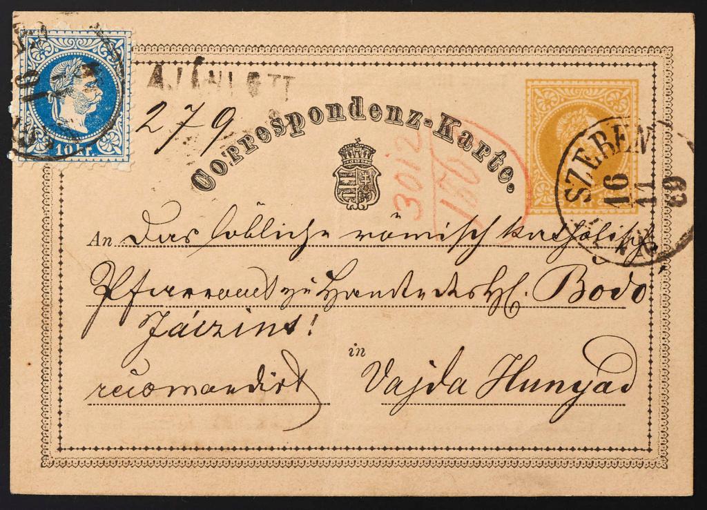 ungarn - Freimarken-Ausgabe 1867 : Kopfbildnis Kaiser Franz Joseph I - Seite 22 1869_110