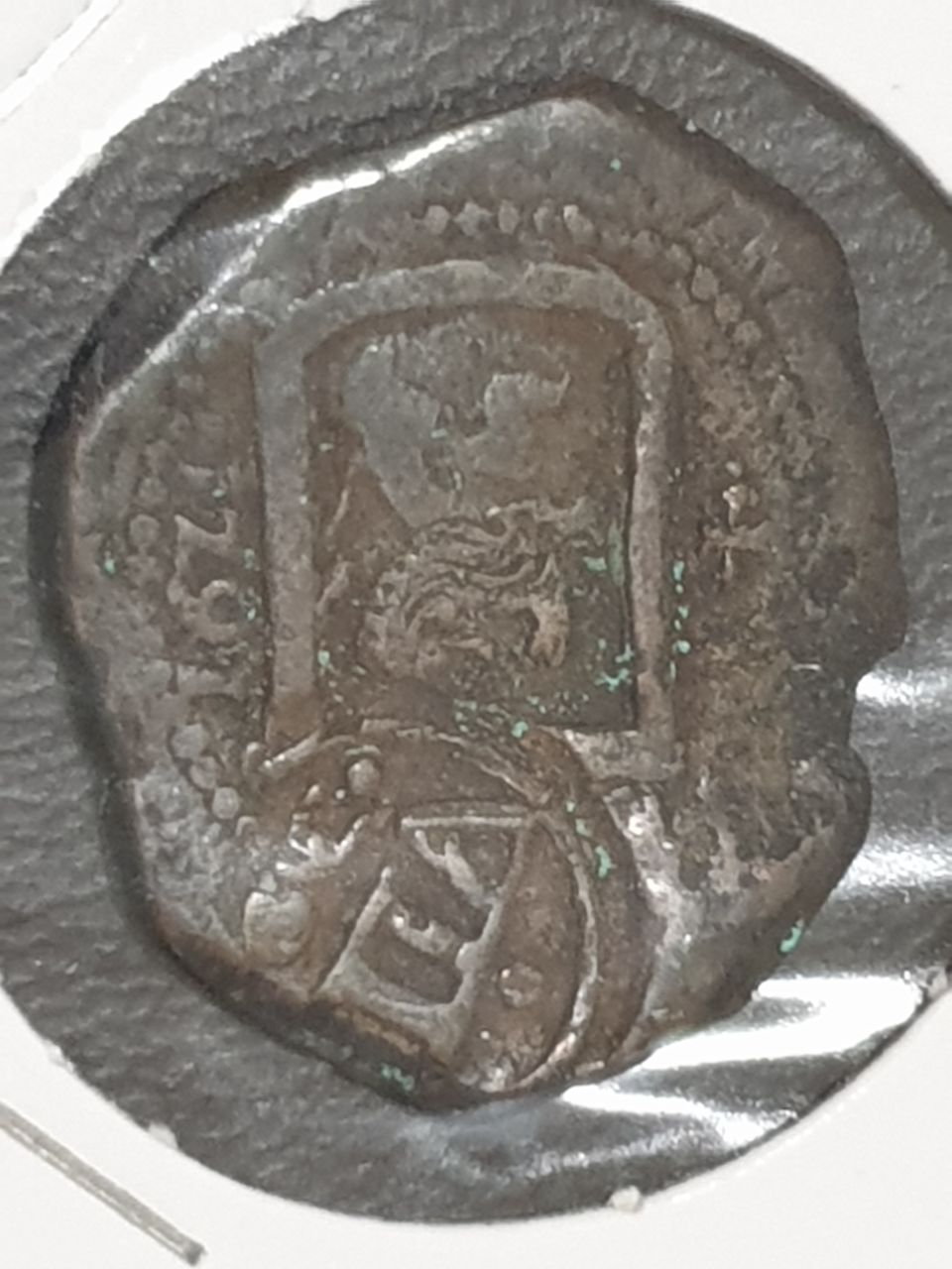 8 maravedís de Felipe IV resellados a  8 Maravedis 1641/2 en Madrid. Photo_10