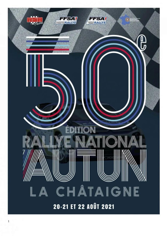 [58 71]  Rallye de la Châtaigne  -  20/22 Aout 2021  Affich21