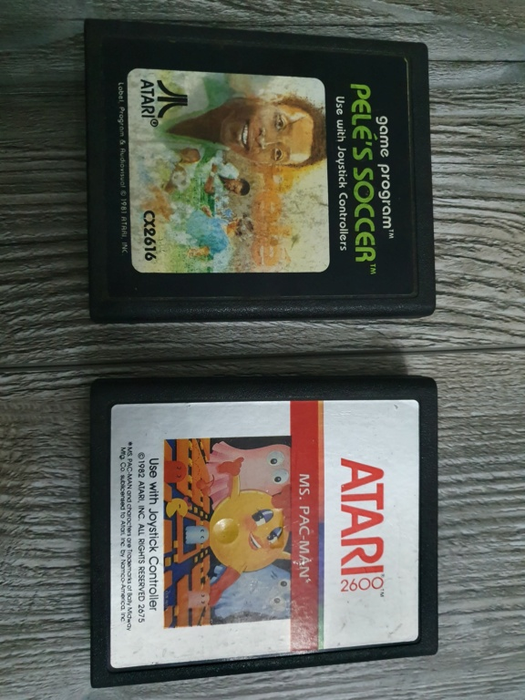 Atari giochi Pelè soccer e MS pac man 20191110