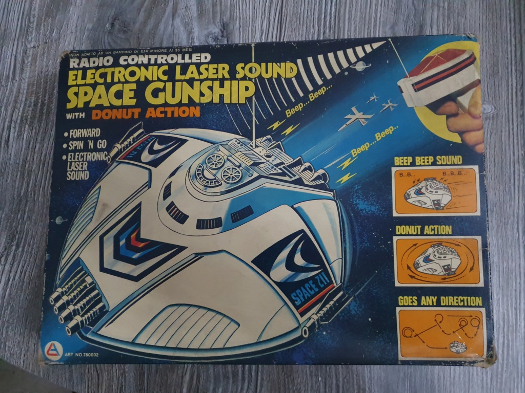Electronic laser sound space gunship radio controlled Funzionante 20200115