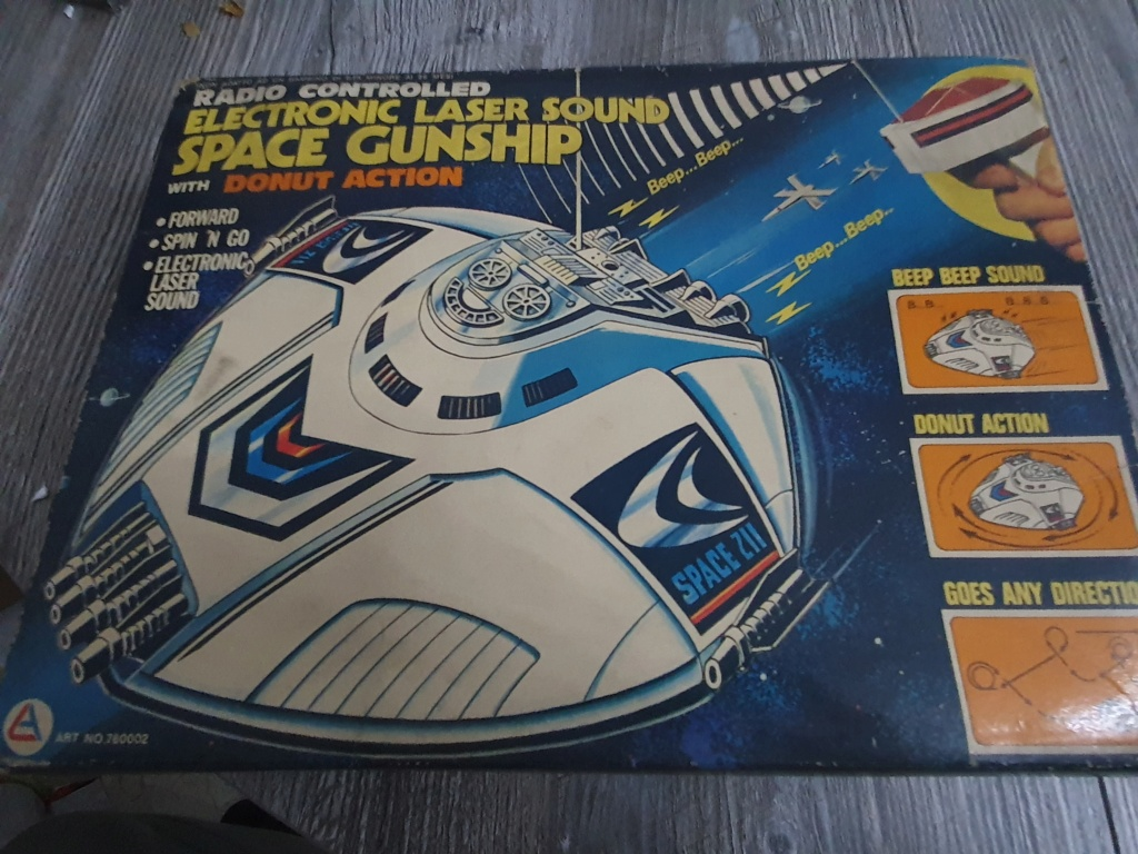 Electronic laser sound space gunship radio controlled Funzionante 20200122
