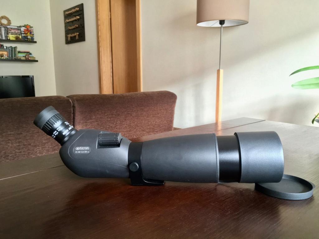 Vendo telescópio de campo OPTICRON (corpo ED + ocular zoom HDF + capa WP) Telesc20