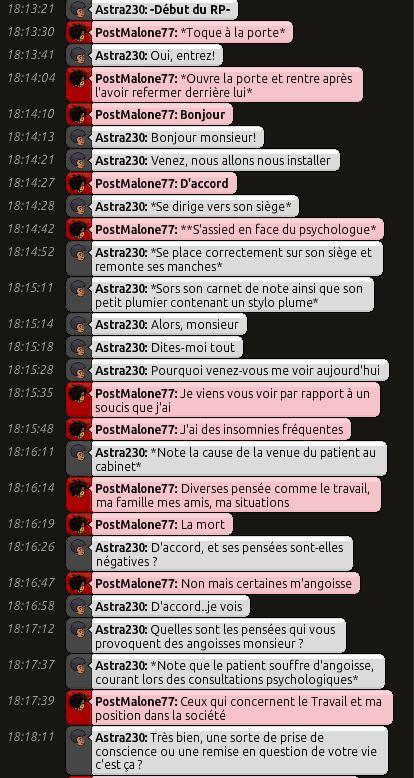[C.H.U] Rapport d'action RP de Astra230 Post111