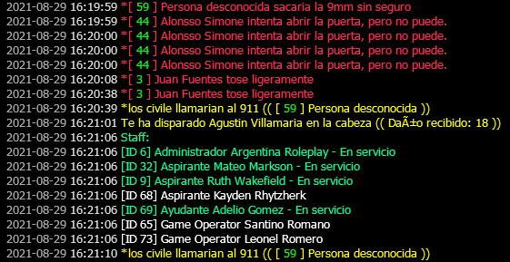 [Reporte] Agustin Villamaria [PG,Mal Rol de entorno,Mal rol de arma.] Report10