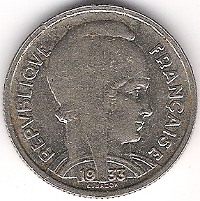5 francs  L.BAZOR 1933 Photo_10