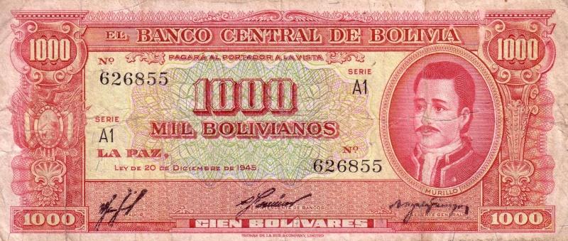 1000 bolivianos de Bolivia Afdsfd10
