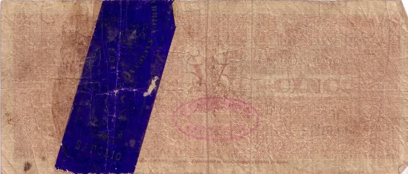 5 pesos de Chile de 1898 Billet11