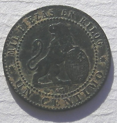 1 cts. Pts. Gobierno Provisional (Barcelona, 1870 d.C) 1870-110