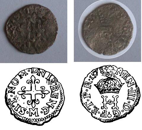 Liard de Henri III (Francia, 1577 – 1583 d.C) Liard610