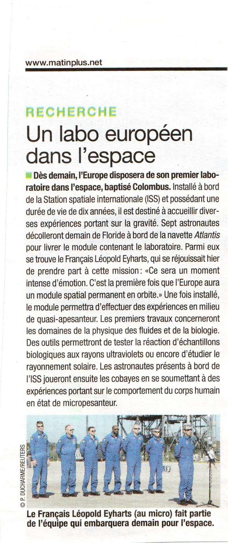 Dans la presse cette semaine: STS-122 07120510