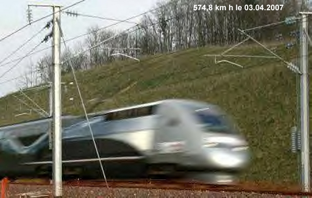 TGV à 574,8 kms h - La France à l'honneur Tgv57410