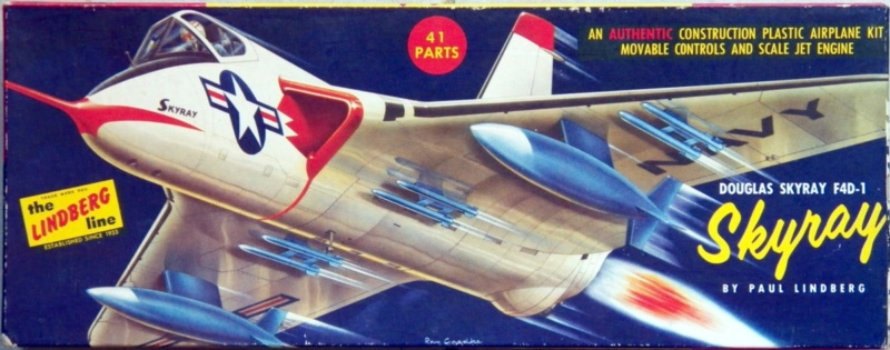 [Lindberg] Douglas F4D-1 Skyray, Kit No. 523:98 et Kit No. 562:98, vers 1955, 1/48 F4d-1_10