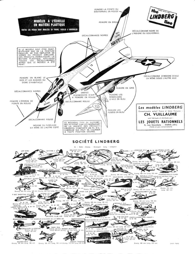 [Lindberg] Douglas F4D-1 Skyray, Kit No. 523:98 et Kit No. 562:98, vers 1955, 1/48 F4d-1_12
