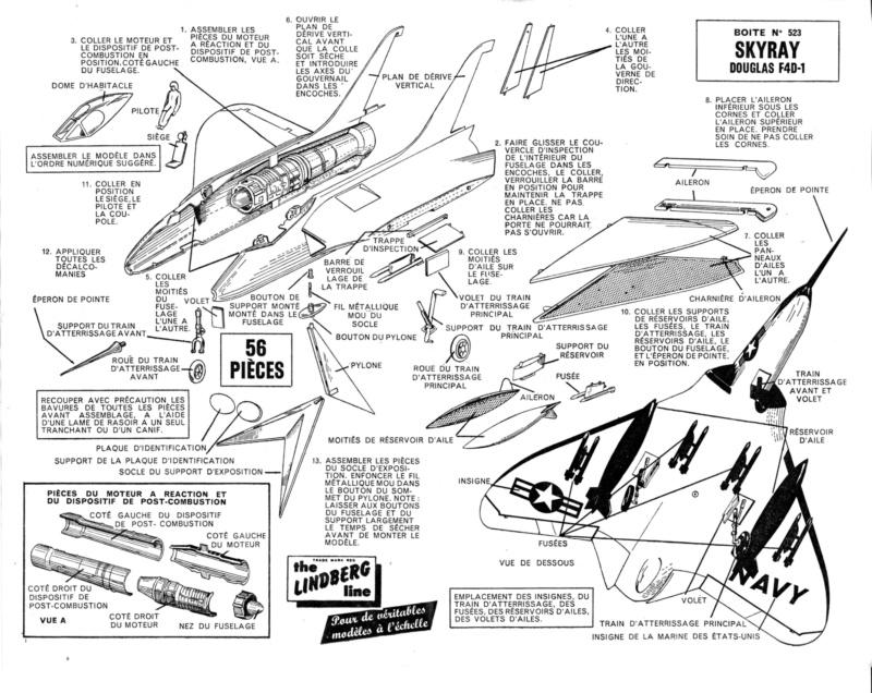 [Lindberg] Douglas F4D-1 Skyray, Kit No. 523:98 et Kit No. 562:98, vers 1955, 1/48 F4d-1_13