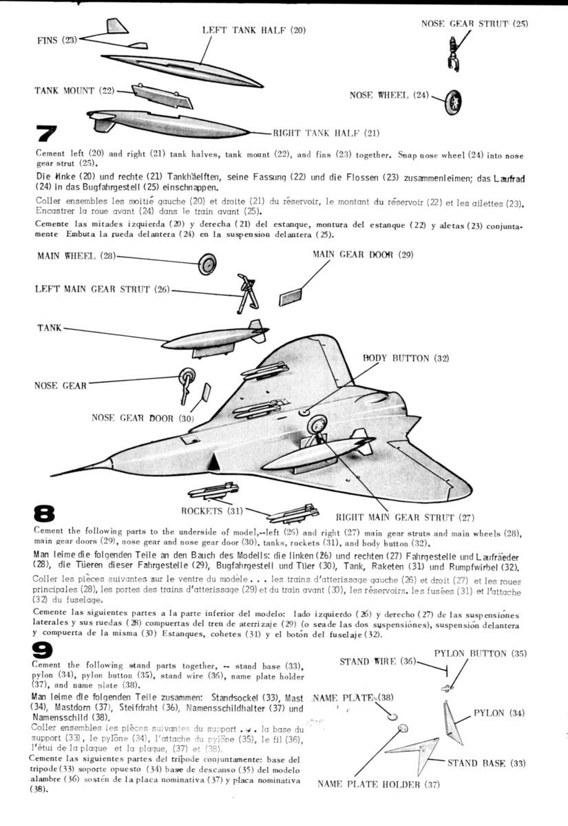 [Lindberg] Douglas F4D-1 Skyray, Kit No. 523:98 et Kit No. 562:98, vers 1955, 1/48 F4d-1_18