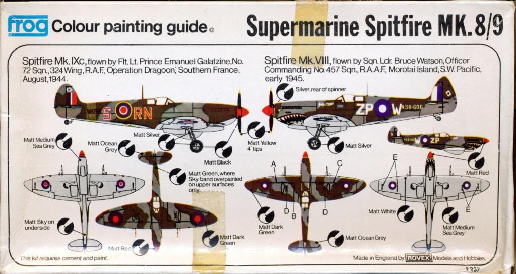 Supermarine Spitfire 8/9, maquette Frog, 1/72, 1974 Spitfi16