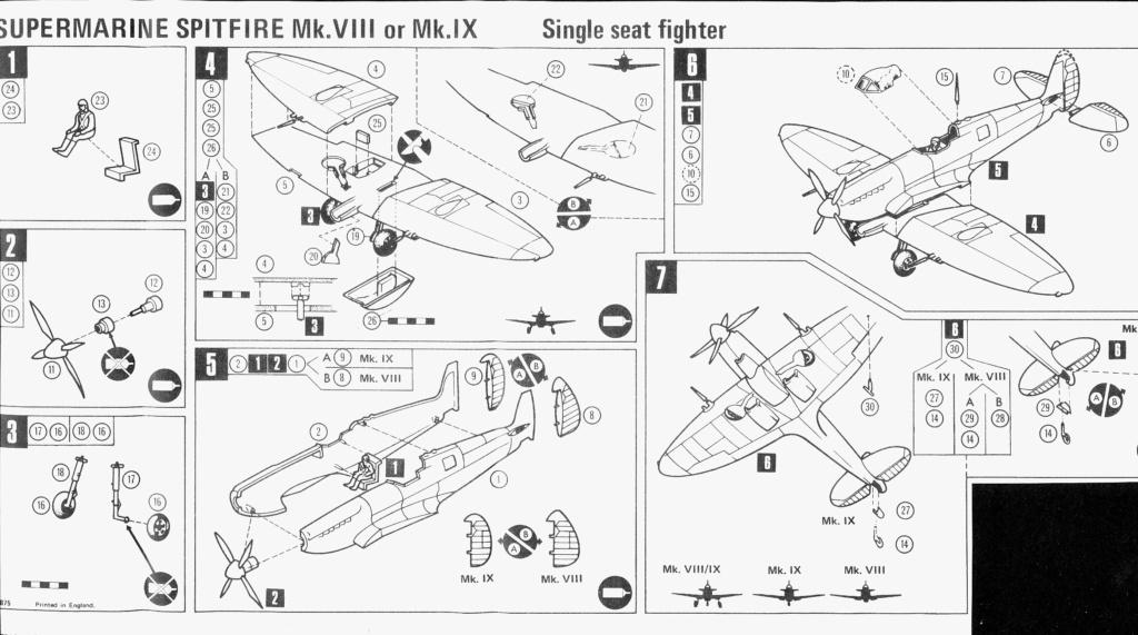Supermarine Spitfire 8/9, maquette Frog, 1/72, 1974 Spitfi21