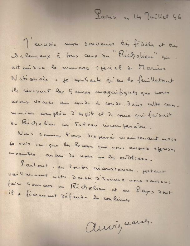 DEUX AMIS, DEUX MARINS Anciens du RICHELIEU - Page 5 Lettre10