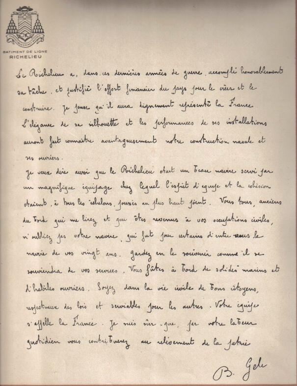 DEUX AMIS, DEUX MARINS Anciens du RICHELIEU - Page 5 Texte111