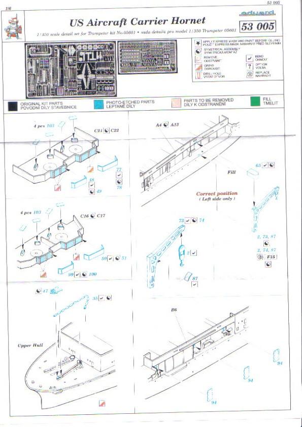[Eduard] set photodecoupe pour HORNET trumpeter 1/350 Hornet10